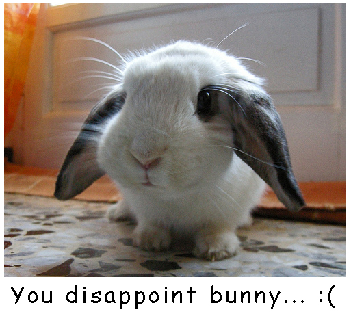 Disappointed Bunny