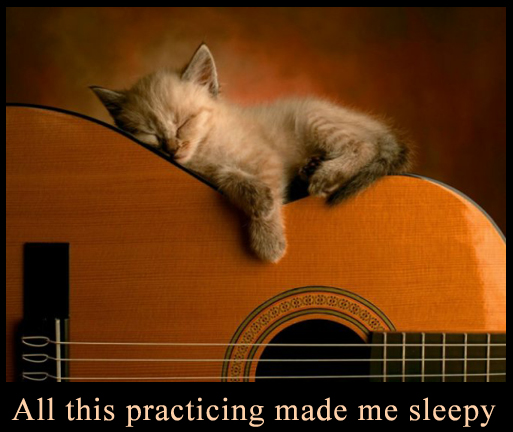 Sleeping on the Guitar