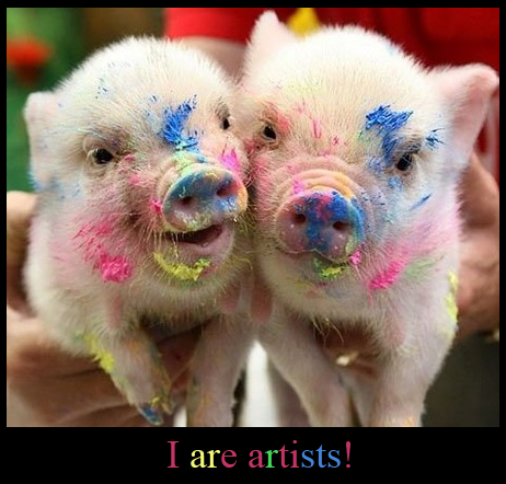 Colorful Piggies