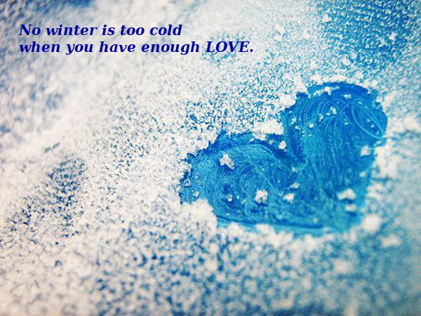 Winter Love Gives Warmth [icy photo]