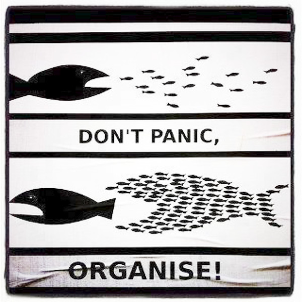 Don't Panic, Organize! [good advice]