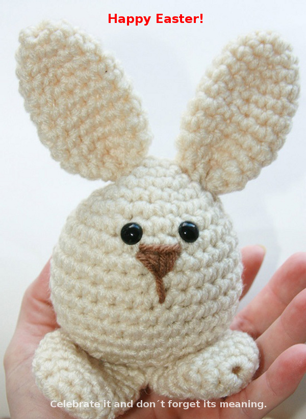 Handmade Easter Bunny [cute card]