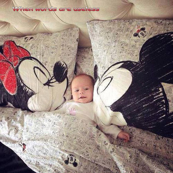 Disney and the Baby [cute photo]
