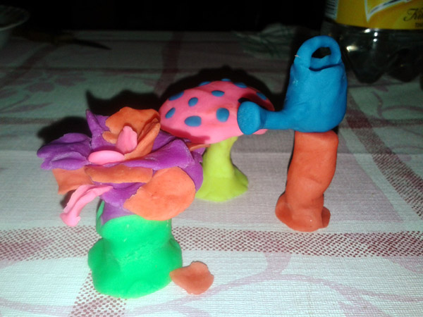 I Had a Creative Weekend [playdough fun photo]