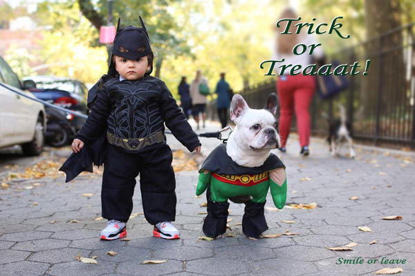Hallooween Cuties [boy and dog]