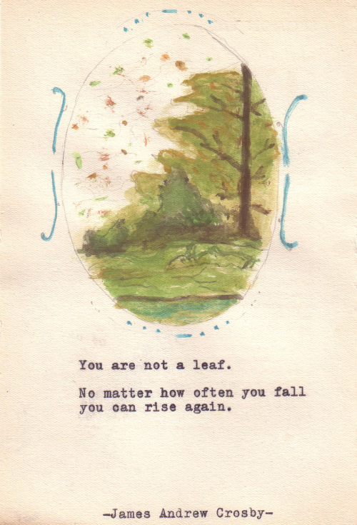 Autumn Inspiration [famous quote on postcard]