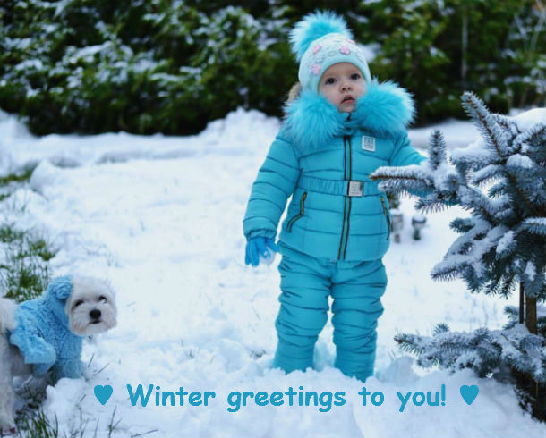 Baby Blue Winter Greetings [cute photo]